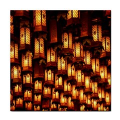 Light Art Pattern Lamp Tile Coasters