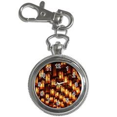 Light Art Pattern Lamp Key Chain Watches