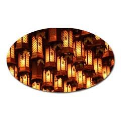 Light Art Pattern Lamp Oval Magnet