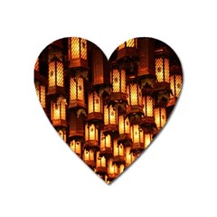 Light Art Pattern Lamp Heart Magnet