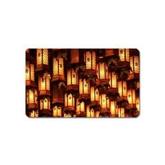 Light Art Pattern Lamp Magnet (Name Card)