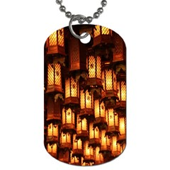 Light Art Pattern Lamp Dog Tag (one Side)
