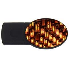 Light Art Pattern Lamp USB Flash Drive Oval (2 GB)