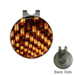 Light Art Pattern Lamp Hat Clips with Golf Markers