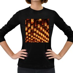 Light Art Pattern Lamp Women s Long Sleeve Dark T Shirts