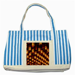 Light Art Pattern Lamp Striped Blue Tote Bag