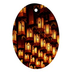 Light Art Pattern Lamp Oval Ornament (Two Sides)