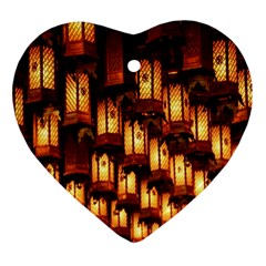 Light Art Pattern Lamp Heart Ornament (two Sides)