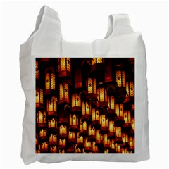 Light Art Pattern Lamp Recycle Bag (one Side)