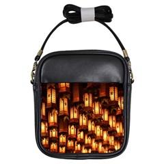 Light Art Pattern Lamp Girls Sling Bags