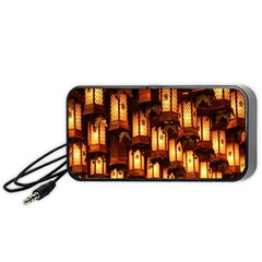 Light Art Pattern Lamp Portable Speaker (black)
