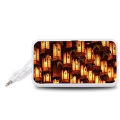 Light Art Pattern Lamp Portable Speaker (White)
