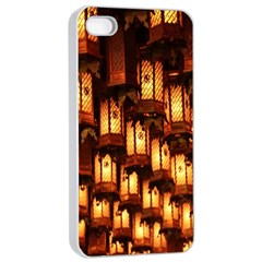Light Art Pattern Lamp Apple iPhone 4/4s Seamless Case (White)