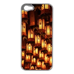 Light Art Pattern Lamp Apple iPhone 5 Case (Silver)