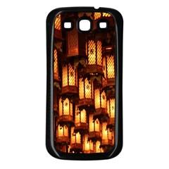 Light Art Pattern Lamp Samsung Galaxy S3 Back Case (black)