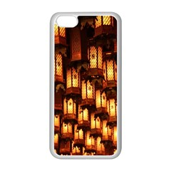 Light Art Pattern Lamp Apple Iphone 5c Seamless Case (white)