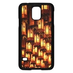 Light Art Pattern Lamp Samsung Galaxy S5 Case (black)