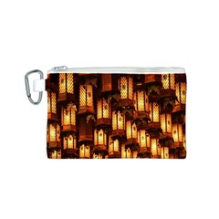 Light Art Pattern Lamp Canvas Cosmetic Bag (S)