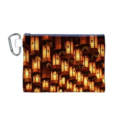 Light Art Pattern Lamp Canvas Cosmetic Bag (M)