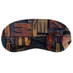 Letters Wooden Old Artwork Vintage Sleeping Masks