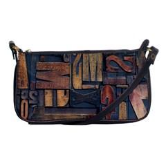 Letters Wooden Old Artwork Vintage Shoulder Clutch Bags
