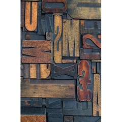 Letters Wooden Old Artwork Vintage 5.5  x 8.5  Notebooks