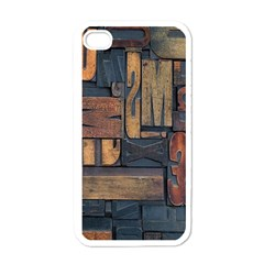 Letters Wooden Old Artwork Vintage Apple Iphone 4 Case (white)