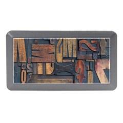 Letters Wooden Old Artwork Vintage Memory Card Reader (Mini)