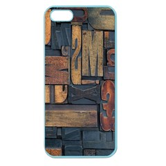 Letters Wooden Old Artwork Vintage Apple Seamless iPhone 5 Case (Color)