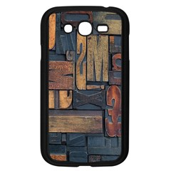 Letters Wooden Old Artwork Vintage Samsung Galaxy Grand Duos I9082 Case (black)