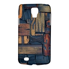 Letters Wooden Old Artwork Vintage Galaxy S4 Active