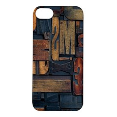 Letters Wooden Old Artwork Vintage Apple Iphone 5s/ Se Hardshell Case