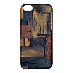 Letters Wooden Old Artwork Vintage Apple Iphone 5c Hardshell Case