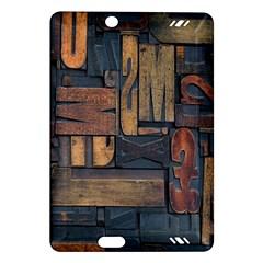 Letters Wooden Old Artwork Vintage Amazon Kindle Fire HD (2013) Hardshell Case