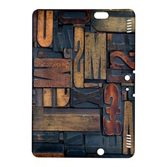 Letters Wooden Old Artwork Vintage Kindle Fire Hdx 8 9  Hardshell Case