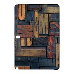 Letters Wooden Old Artwork Vintage Samsung Galaxy Tab Pro 10.1 Hardshell Case