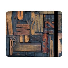 Letters Wooden Old Artwork Vintage Samsung Galaxy Tab Pro 8 4  Flip Case