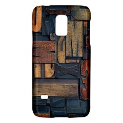 Letters Wooden Old Artwork Vintage Galaxy S5 Mini