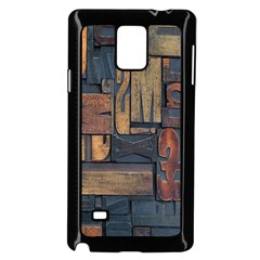 Letters Wooden Old Artwork Vintage Samsung Galaxy Note 4 Case (Black)