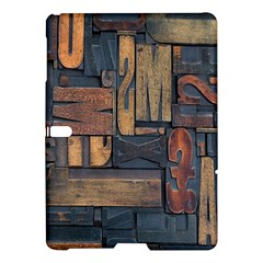 Letters Wooden Old Artwork Vintage Samsung Galaxy Tab S (10 5 ) Hardshell Case