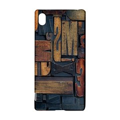 Letters Wooden Old Artwork Vintage Sony Xperia Z3+