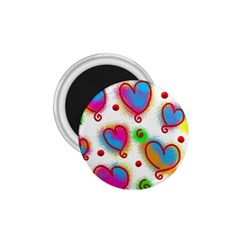 Love Hearts Shapes Doodle Art 1.75  Magnets