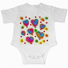 Love Hearts Shapes Doodle Art Infant Creepers