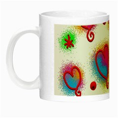 Love Hearts Shapes Doodle Art Night Luminous Mugs