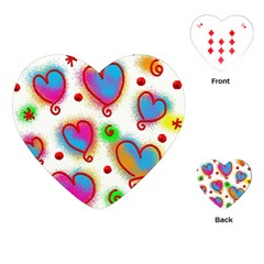 Love Hearts Shapes Doodle Art Playing Cards (Heart)