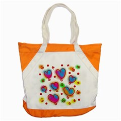 Love Hearts Shapes Doodle Art Accent Tote Bag