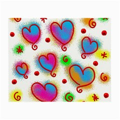 Love Hearts Shapes Doodle Art Small Glasses Cloth (2-Side)