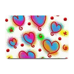 Love Hearts Shapes Doodle Art Plate Mats
