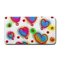 Love Hearts Shapes Doodle Art Medium Bar Mats