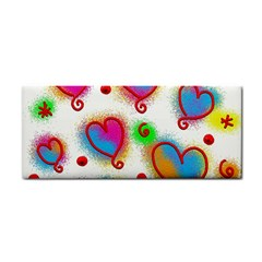 Love Hearts Shapes Doodle Art Cosmetic Storage Cases